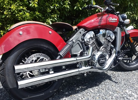 Samson Exhaust Indian Scout